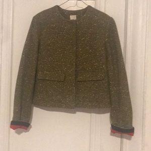 Green gold tweed jacket